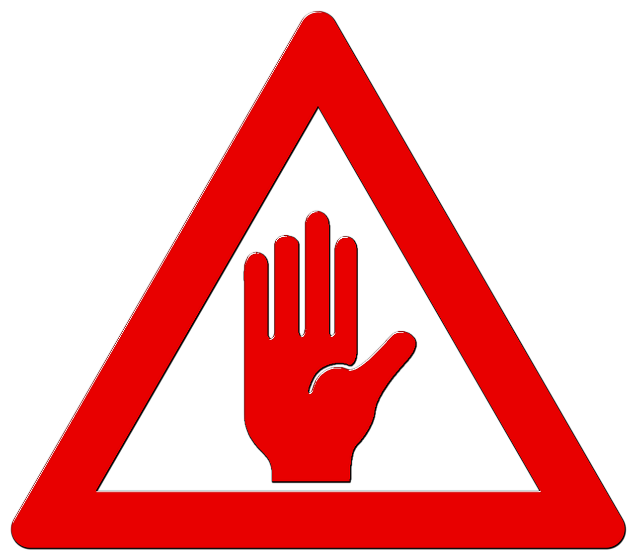 warning sign warning hands stop icon png #39192