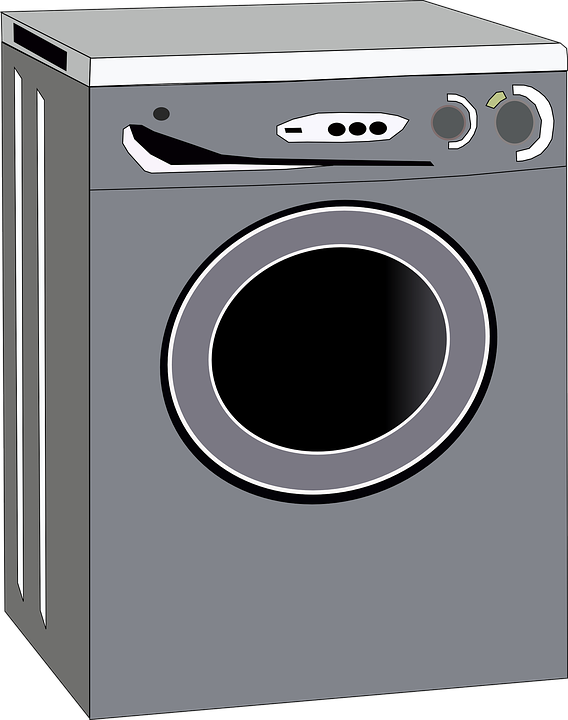 vector graphic washing machine gray housework #20622