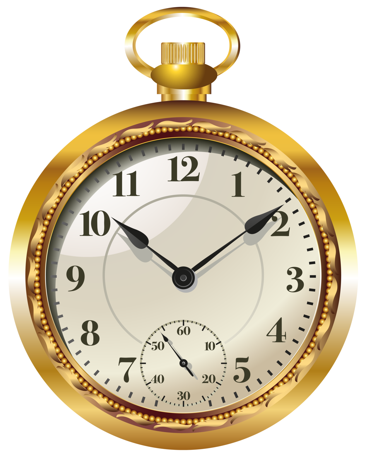 pocket watch clock png clip art #18702