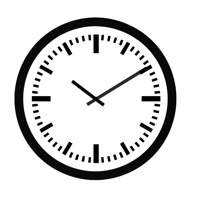 wall watch, vector graphic clock time hour minute #20627