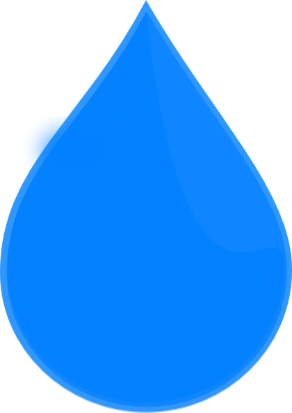 blue water drop clip art clkerm vector clip art #11869