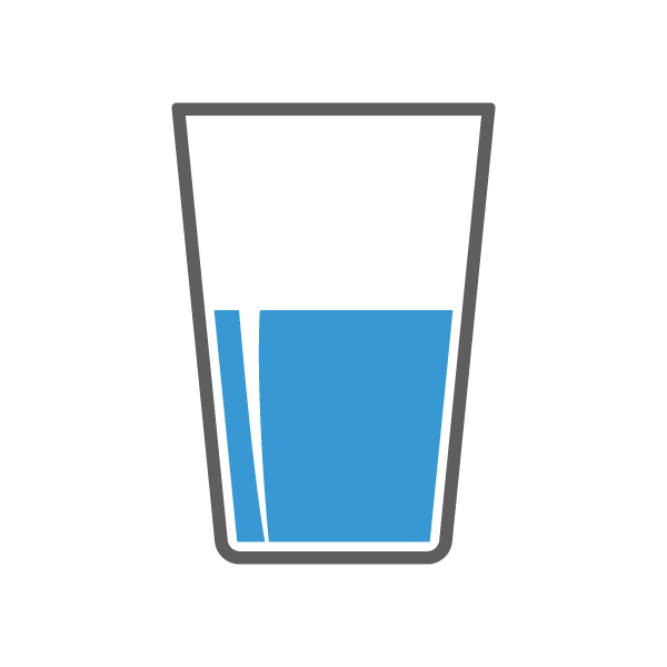 water glass, monitoring your diet and fluid intake connect 26989
