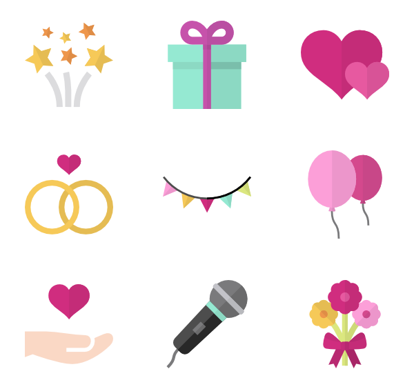 wedding, heart icons vector icons #12438