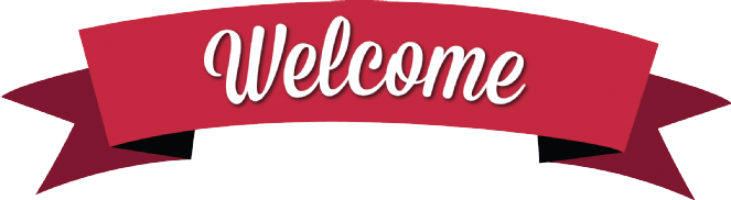 classic red welcome banner transparent png stickpng #38249