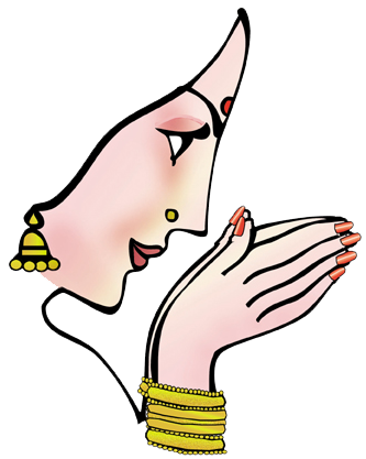 welcome hand namaste hands clipart png #38331