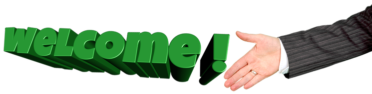 welcome hand png #38340
