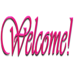 welcome pink icon #38389