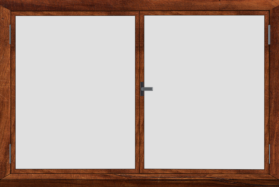 illustration window frame closed casement #15247