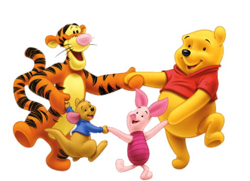 winnie the pooh and friends dancing transparent png stickpng #17406