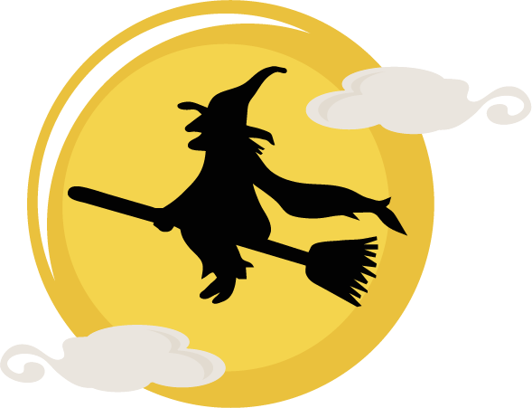 flying witch svg cut file halloween svg files cute #36352