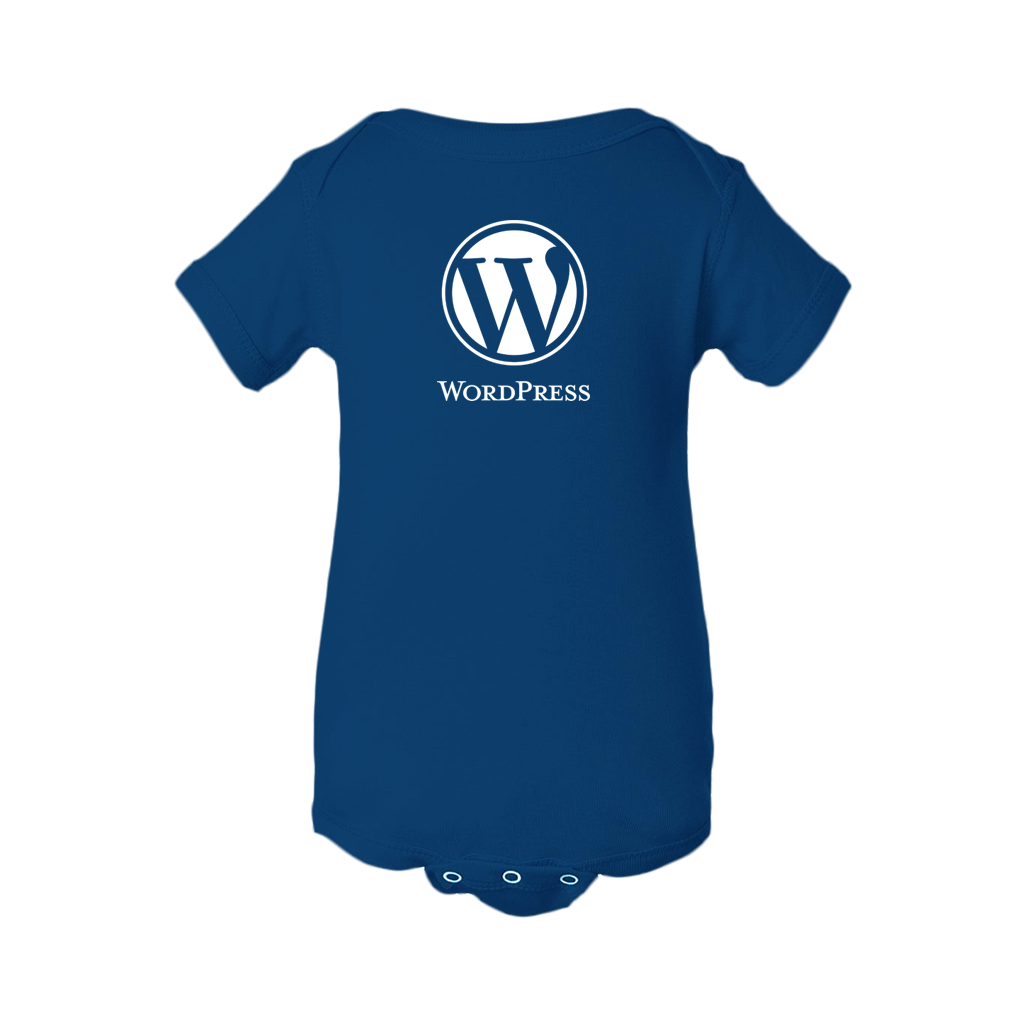 wordpress logo one piece with snaps wordpress swag store #29043