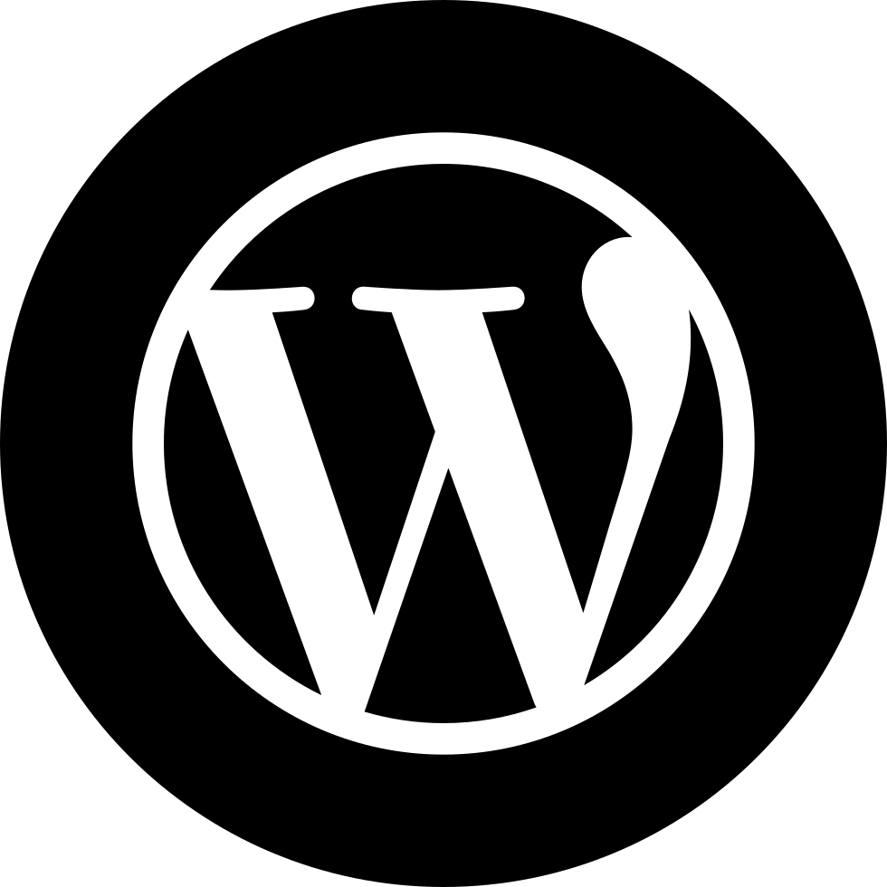 wordpress logo svg png icon download onlinewebfontsm #29021