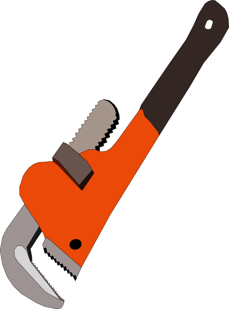 free pipe wrench image download, hookup tool #39756