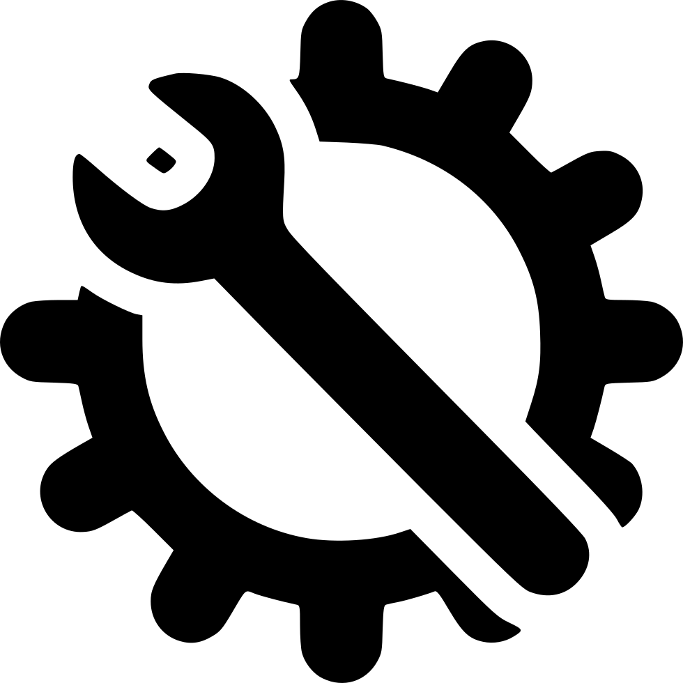 gear with wrench logo transparent #39766