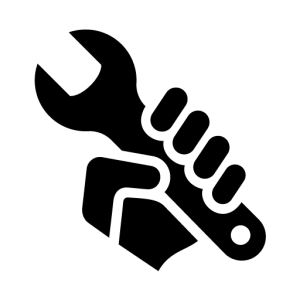 wrench in hands logo icon #39770