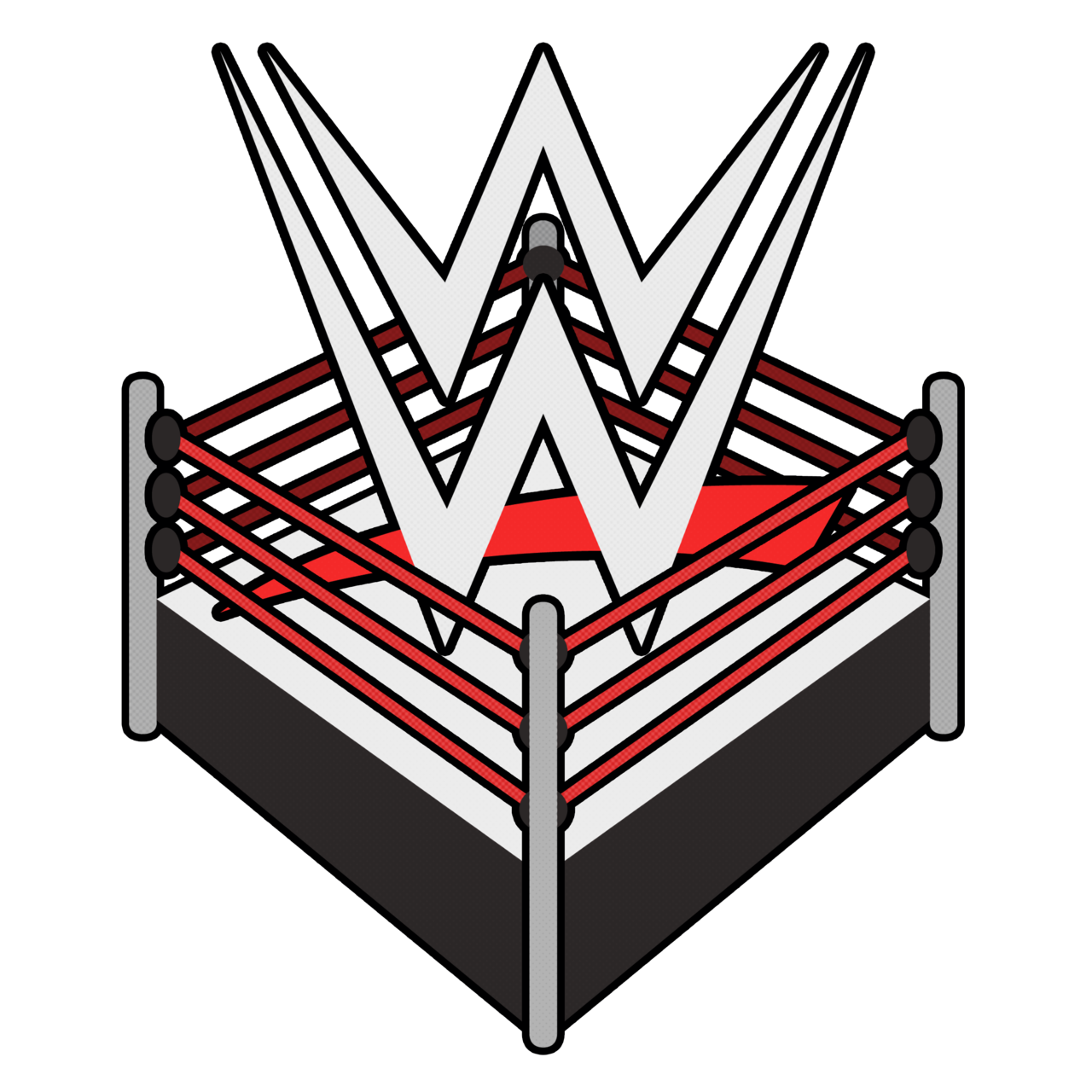 wwe wrestling logo ring png 2473 free transparent png logos