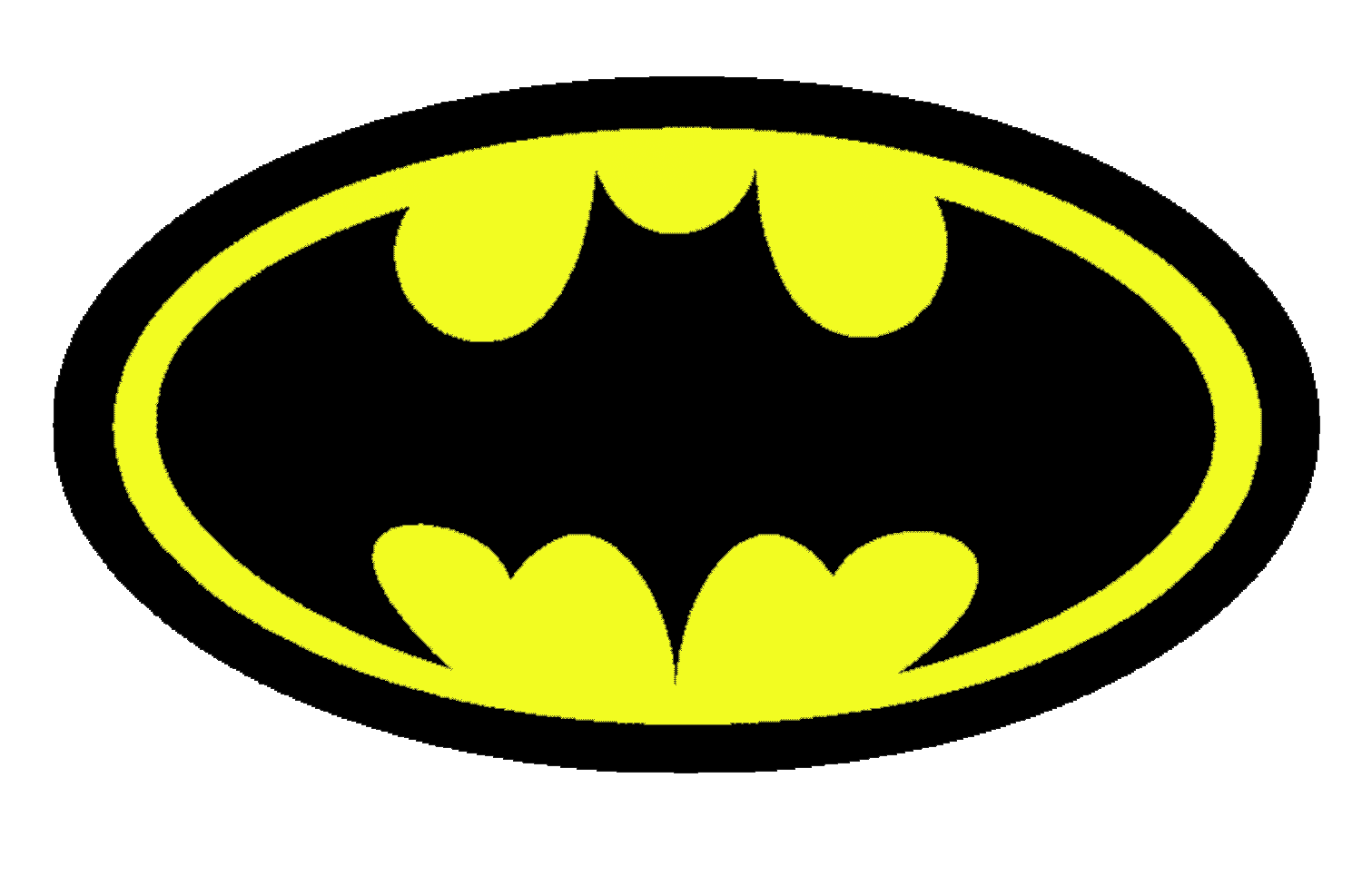 yellow, black, batman logo png #2033