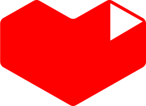 heart youtube icon logo vector download #31804