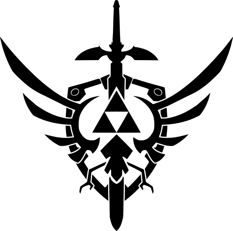 triforce design vector png logo